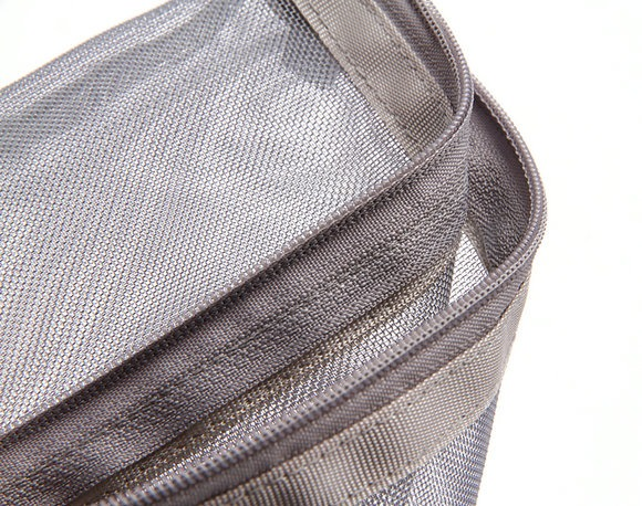Netscoco Details Show Fashion Mesh Makeup Bag Ladies Cosmetic Bag Women's Travel Toiletry Pouch Silver Mesh Sheer Suppliers Manufacturer Factory Best Seller