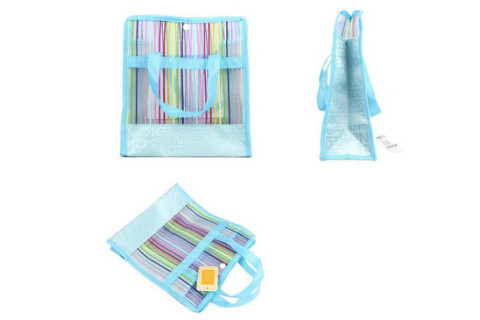 Netscoco Fashion Bathing Bags colored bags Handbags Rainbow Bag Leisure Beach Bags Colored Mesh bags Manufacturer Factory