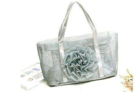 Netscoco fashion flowers mesh bag beach handbag supplier manufacturersliver ladies womens