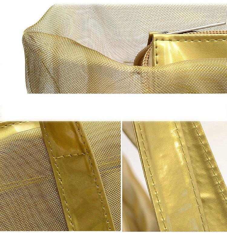 New Mesh fashion beach bag Arrival Women's Summer leisure Beach Shoulder Bag supplier manufacturer
