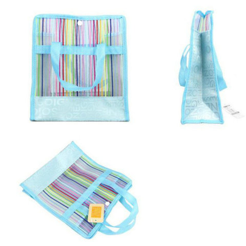 Rainbow Stripes Mesh Application: Beach Bag