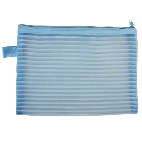 Stripe Lace Nylon Mesh Application Document Bag